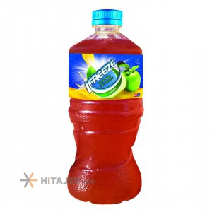 Orbit 300cc apple juice with basil seeds in pet bottle Iran Export Market