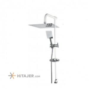 Rassan rasha chrome white lever universet bathroom shower