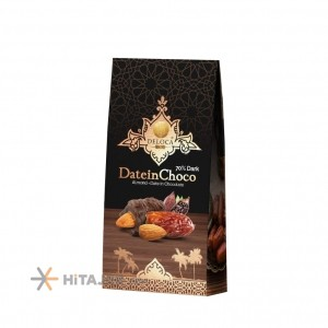 Deloca Date with Almond and chocolate Cover 250 gr
