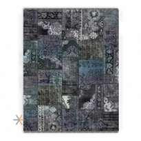 Patchwork Machin Carpet 700 Reeds Code EB130