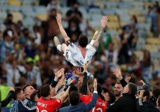 طلسم مسی بالاخره شکست!/ تصاویر دیدنی از نخستین عنوان قهرمانی مسی با تیم ملی آرژانتین