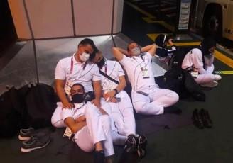 نظم ژاپنیها تو زرد از آب درآمد!/ خستگی مفرط کاروان اعزامی ایران به المپیک در فرودگاه توکیو
