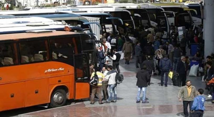 قیمت بلیت اتوبوس در پی تعطیلی تهران افزایش یافت